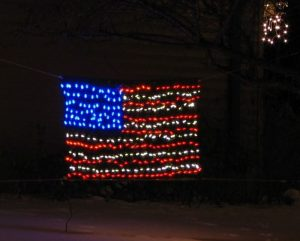 The finished LED flag in our 2007 display.