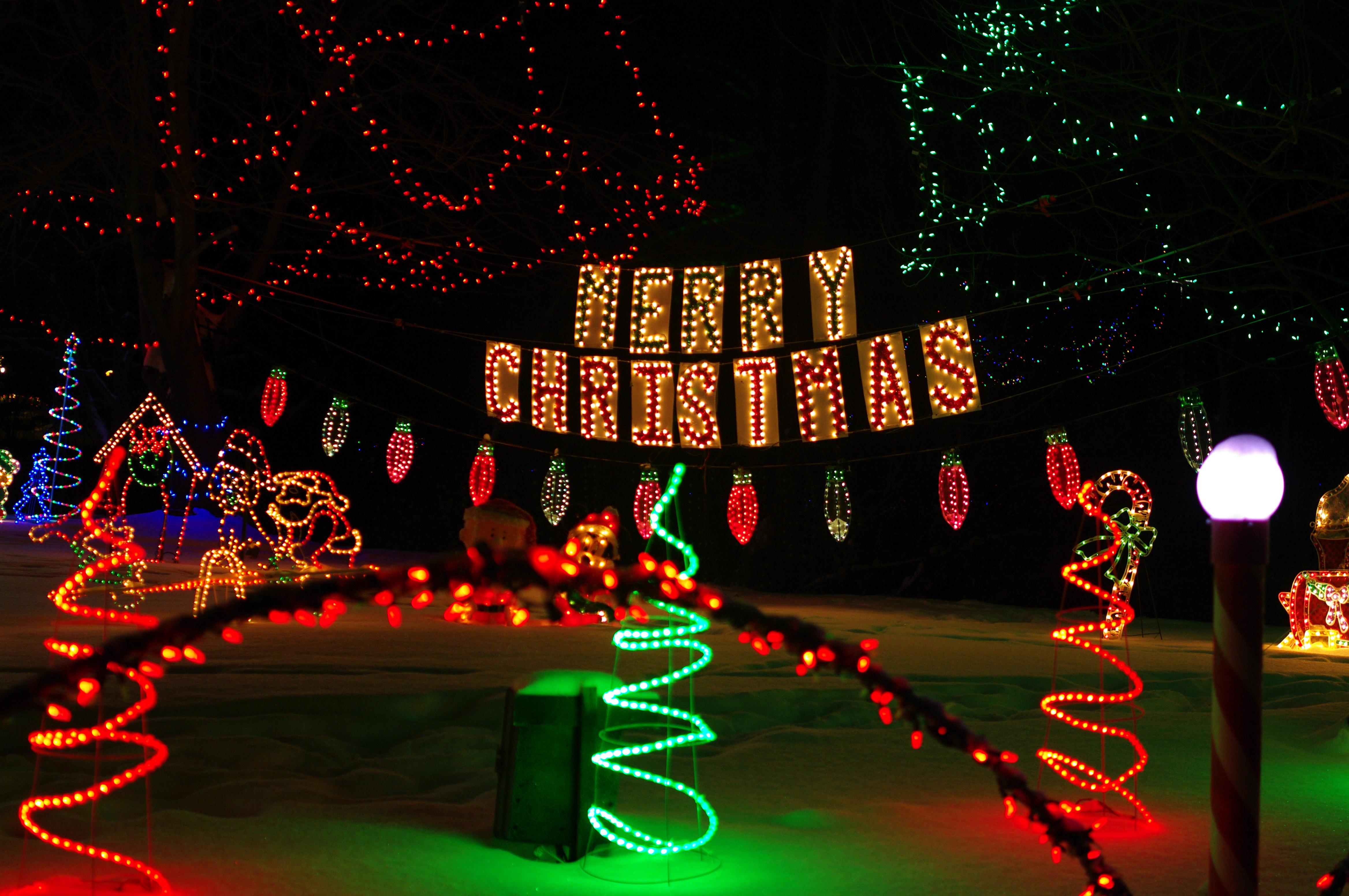 Christmas Lighted Sign.Plymouth Lights Christmas Sign