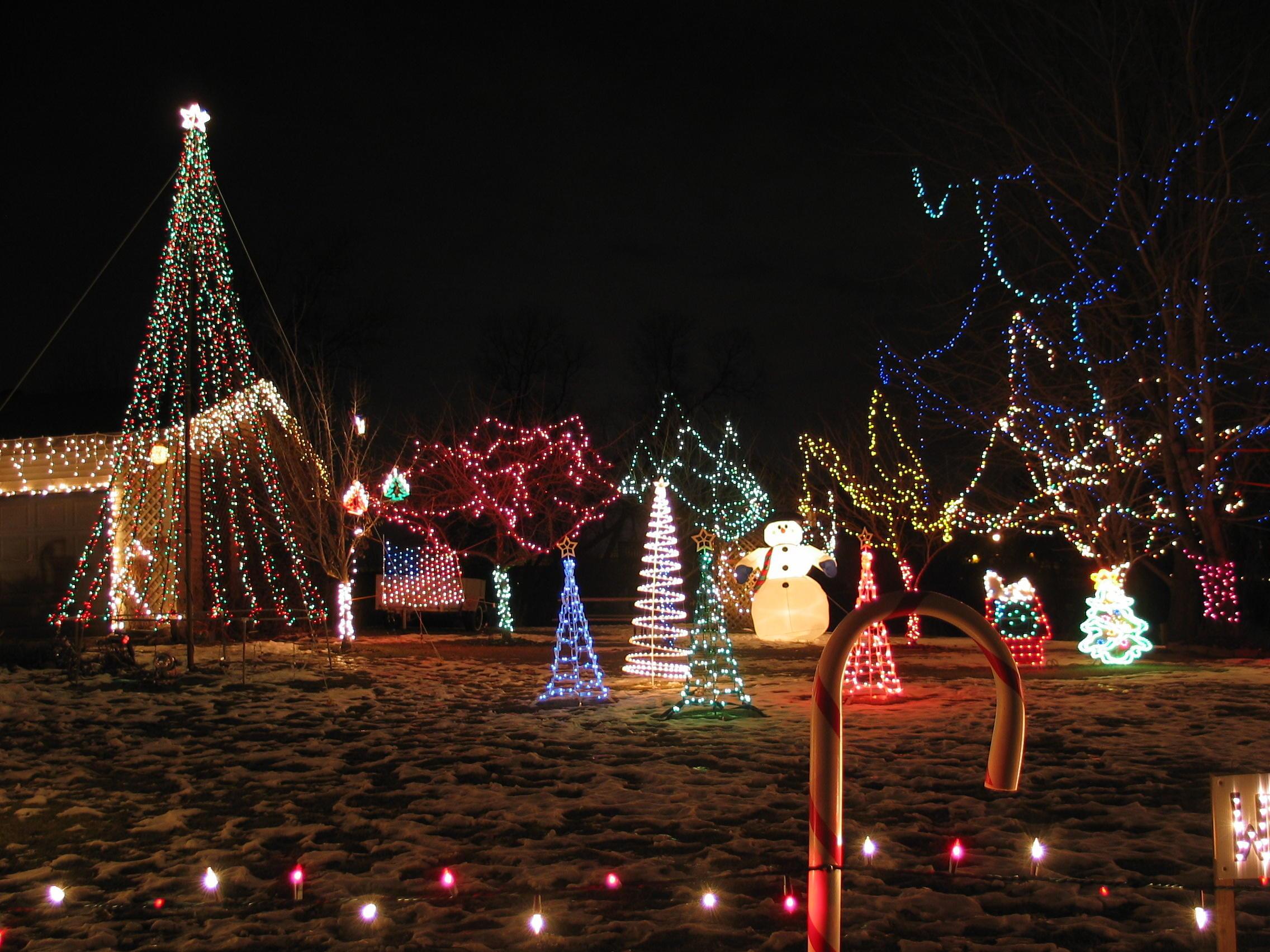 Plymouth lights 2003 display side side yard trees aloadofball Gallery